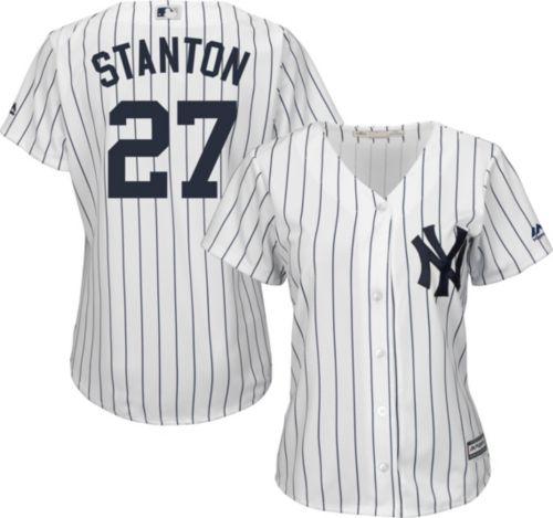 Majestic Women s Replica New York Yankees Giancarlo Stanton  27 Cool Base  Home White Jersey. noImageFound. Previous 6fc758cbf
