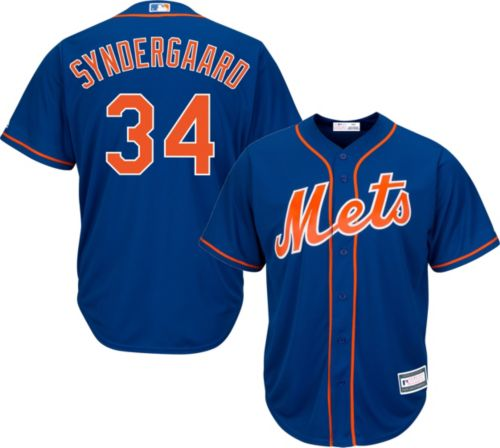 267628a7eb8 Youth Replica New York Mets Noah Syndergaard #34 Alternate Royal ...