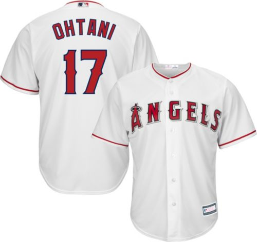 b615759ff Youth Replica Los Angeles Angels Shohei Ohtani  17 Home White Jersey.  noImageFound. Previous