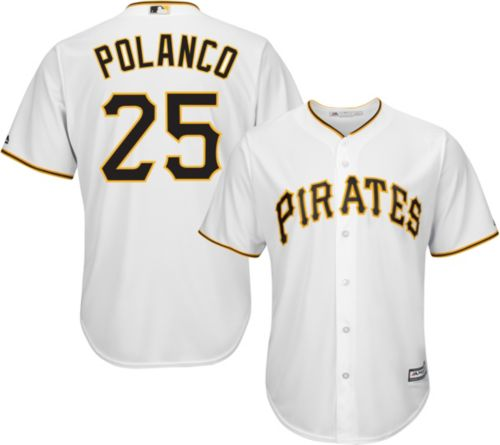 7df692cf1 Majestic Youth Replica Pittsburgh Pirates Gregory Polanco  25 Cool Base  Home White Jersey. noImageFound. Previous