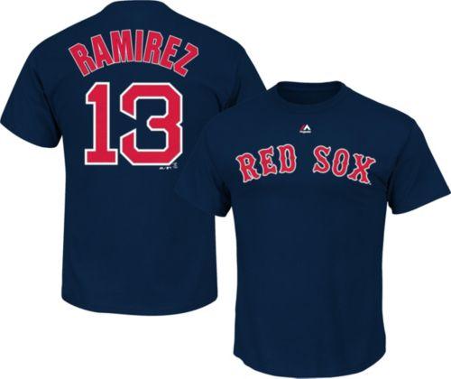 Majestic Youth Boston Red Sox Hanley Ramirez  13 Navy T-Shirt ... d9d8e8ea860