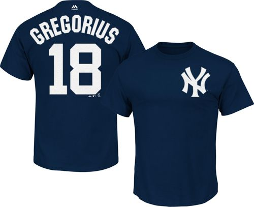 27c7256f1 Majestic Youth New York Yankees Didi Gregorius  18 Navy T-Shirt.  noImageFound. Previous