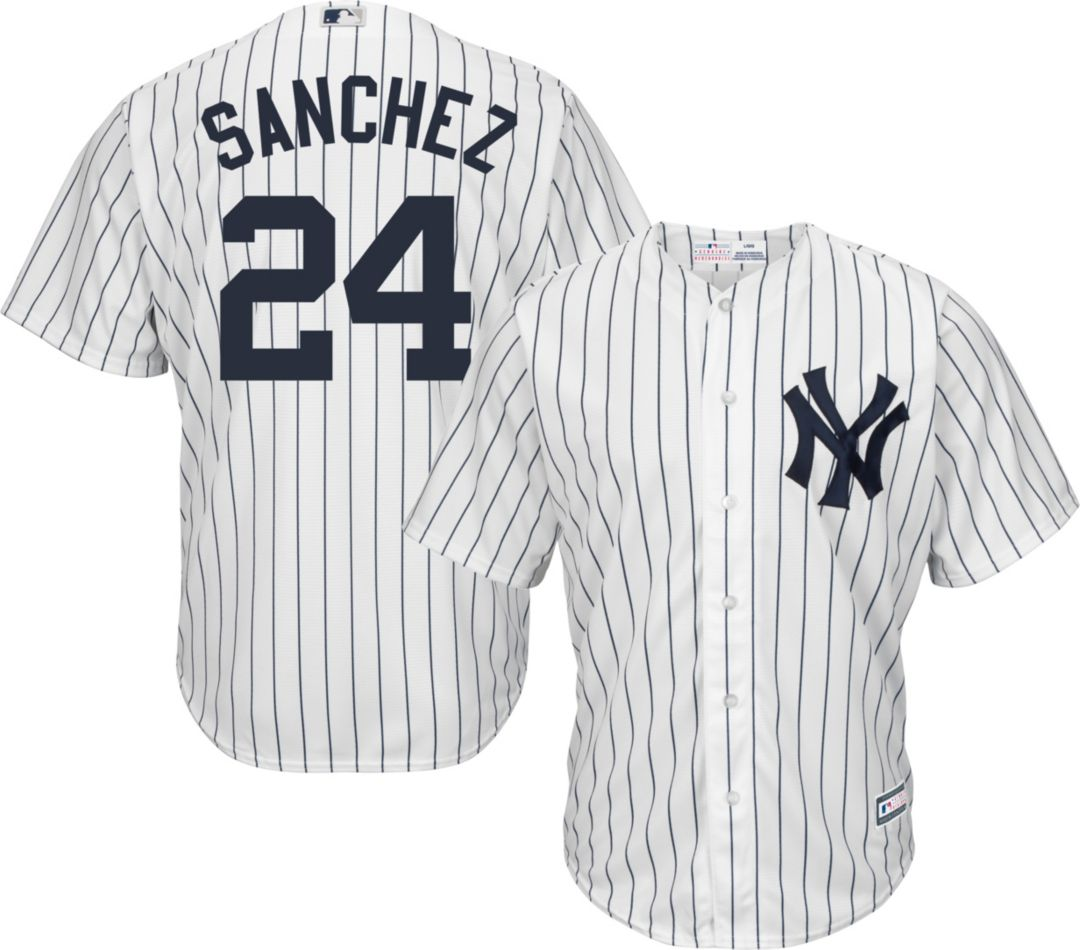 88806a70 Youth Replica New York Yankees Gary Sanchez #24 Home White Jersey.  noImageFound. Previous. 1. 2