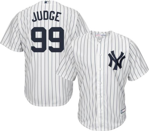 26a2e584c81 Youth Replica New York Yankees Aaron Judge  99 Home White Jersey ...