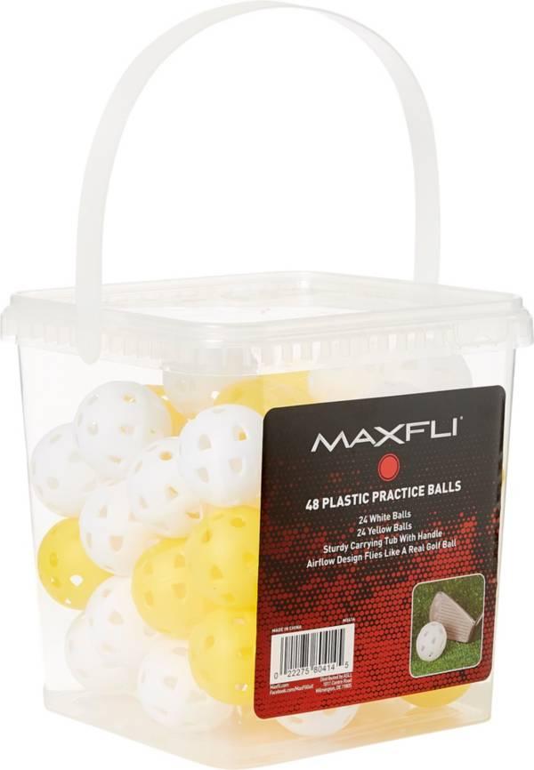 Maxfli Plastic Practice Balls - 48-Ball Bucket product image