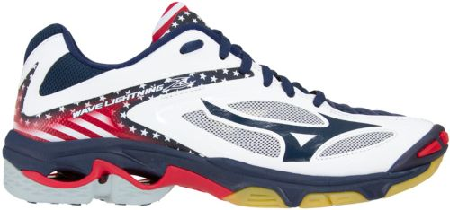 8209f24ee31 Mizuno Women s Wave Lightning Z3 Stars and Stripes Volleyball Shoes ...