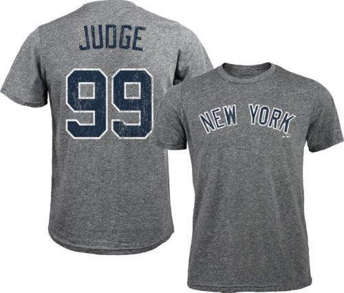 cc016e779 Majestic Threads Men's New York Yankees Aaron Judge #99 Grey Tri ...