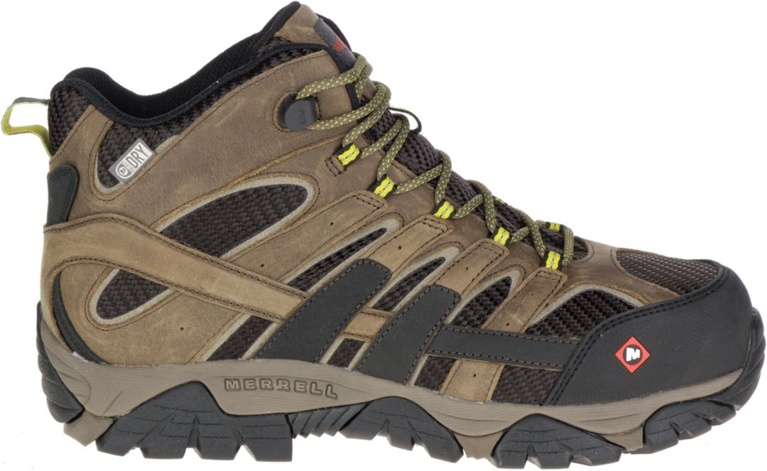 1d5d2daac1 Merrell Men's Moab 2 Vent Mid Waterproof Composite Toe Work Boots