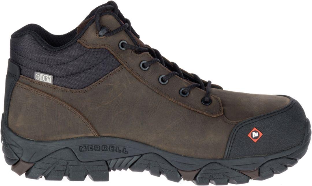 7f9e3e293d0 Merrell Men's Moab Rover Mid Waterproof Composite Toe Work Boots