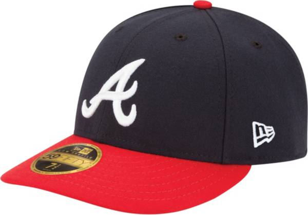 New Era Men's Atlanta Braves 59Fifty Home Navy Low Crown Authentic Hat product image