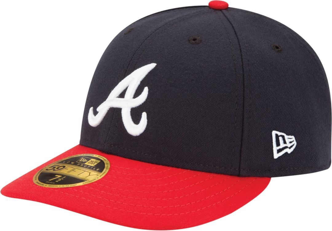finest selection fd0ce 4a14e New Era Men s Atlanta Braves 59Fifty Home Navy Low Crown Authentic Hat.  noImageFound. Previous