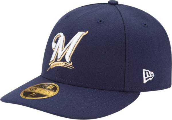 New Era Men's Milwaukee Brewers 59Fifty Game Navy Low Crown Authentic Hat product image