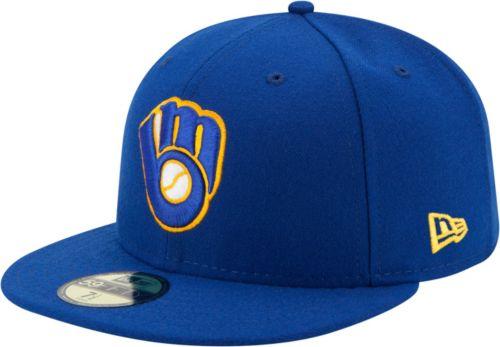 big sale 23895 e3692 New Era Men s Milwaukee Brewers 59Fifty Alternate Royal Authentic Hat.  noImageFound. Previous. 1