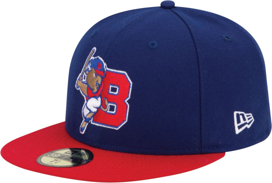 pretty nice f2b34 4e265 New Era Men s Buffalo Bisons 59Fifty Royal Red Authentic Hat. noImageFound.  Previous
