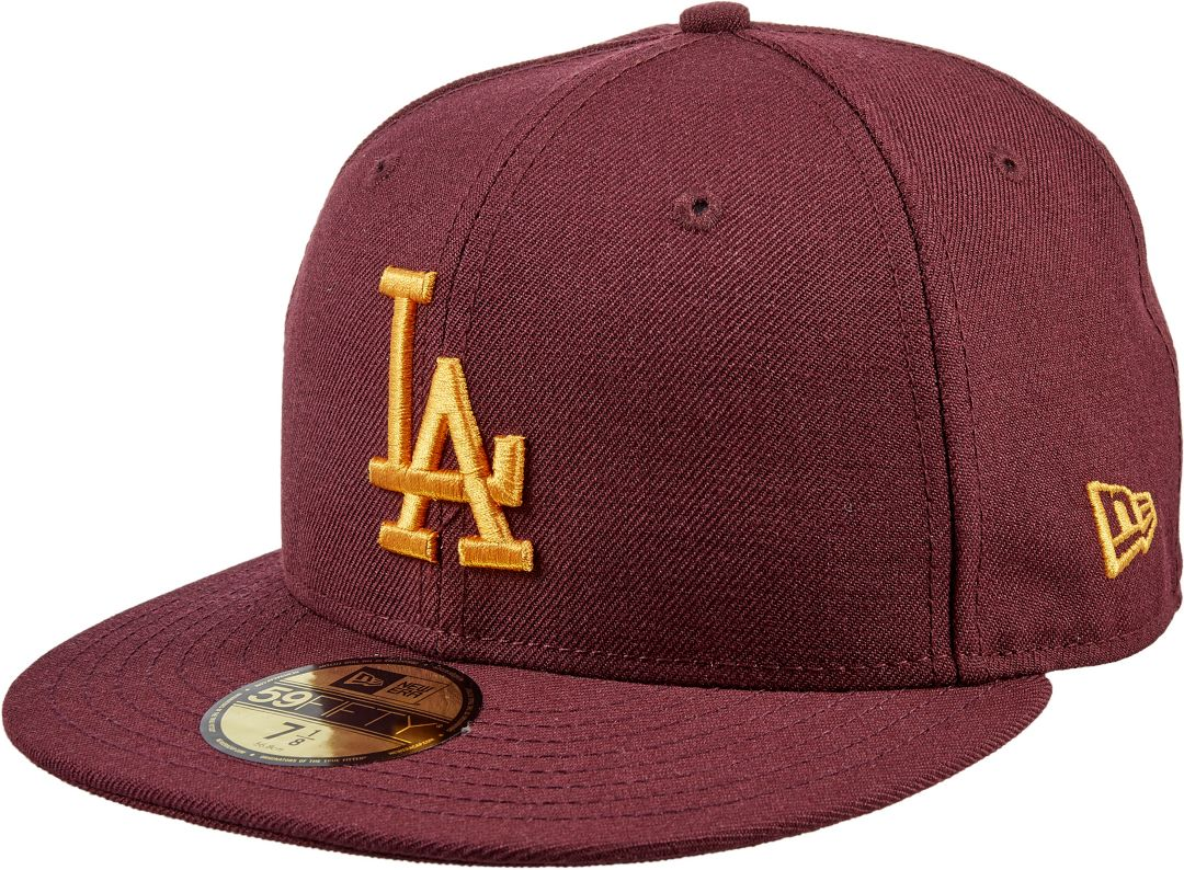 2db21f2c New Era Men's Los Angeles Dodgers 59Fifty City Pride Cardinal/Gold Fitted  Hat. noImageFound. Previous