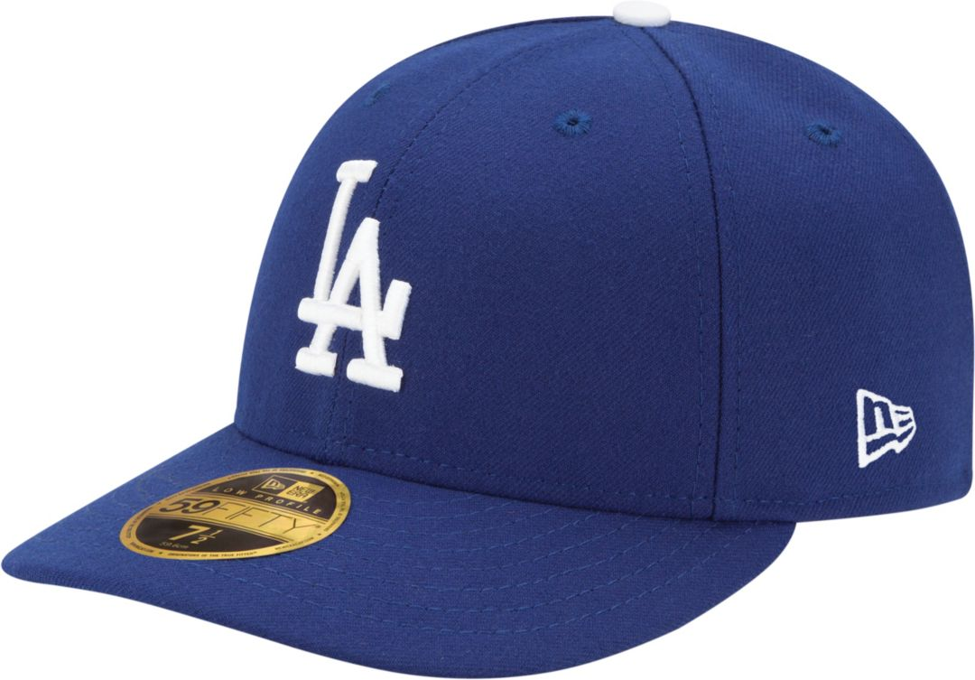 fff56b2b8b New Era Men's Los Angeles Dodgers 59Fifty Game Royal Low Crown Authentic Hat