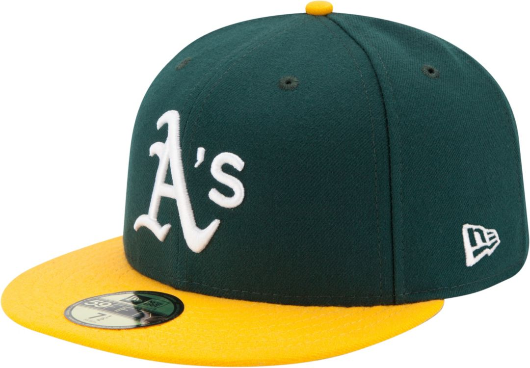c3b43034 New Era Men's Oakland Athletics 59Fifty Home Green Authentic Hat ...