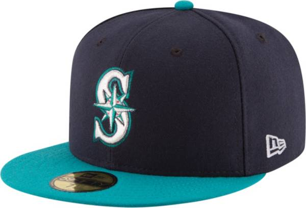 New Era Men's Seattle Mariners 59Fifty Alternate Navy Authentic Hat product image