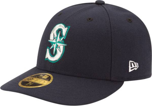 New Era Men's Seattle Mariners 59Fifty Game Navy Low Crown Authentic Hat product image