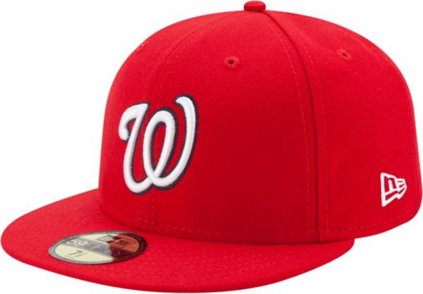 New Era Men's Washington Nationals 59Fifty Game Red Authentic Hat product image