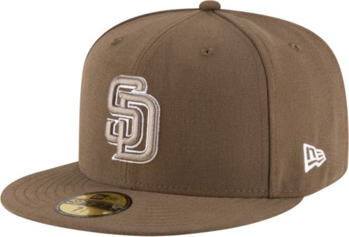 new style 6645c 05fc8 New Era Men s San Diego Padres 59Fifty Alternate Brown Authentic Hat.  noImageFound. Previous
