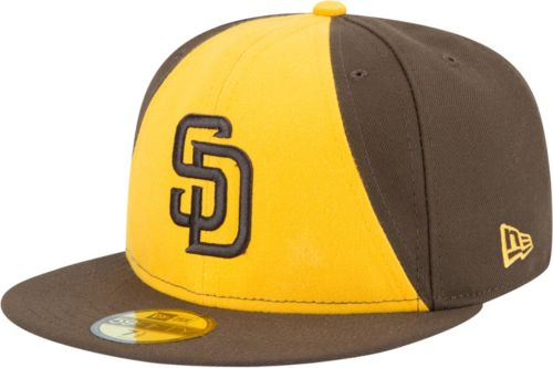 outlet store 02bfe c4c53 ... wholesale new era mens san diego padres 59fifty alternate gold  authentic hat f3fba 7bff1