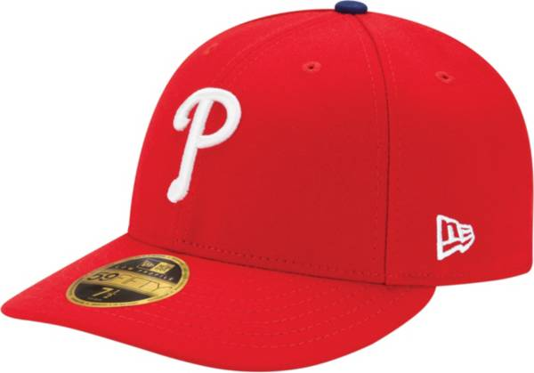New Era Men's Philadelphia Phillies 59Fifty Game Red Low Crown Authentic Hat product image