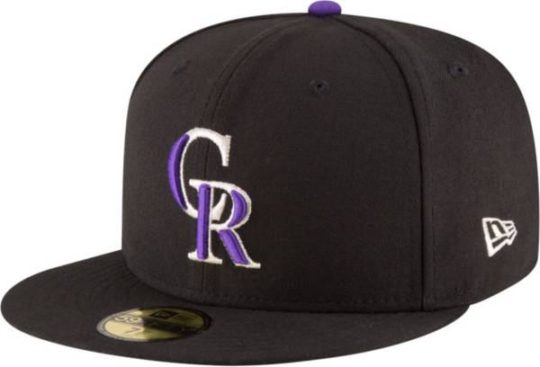 New Era Men's Colorado Rockies 59Fifty Game Black Authentic Hat product image