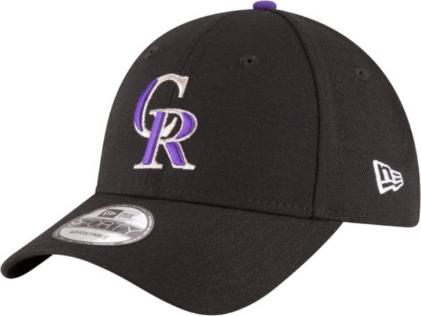 New Era Men's Colorado Rockies 9Forty Black Adjustable Hat product image