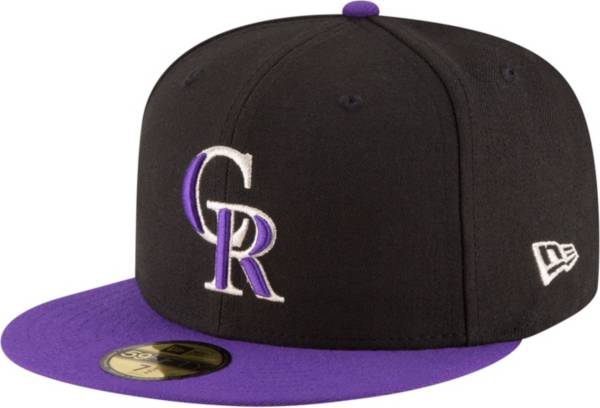 New Era Men's Colorado Rockies 59Fifty Alternate Black Authentic Hat product image