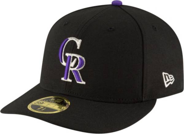 New Era Men's Colorado Rockies 59Fifty Game Black Low Crown Authentic Hat product image