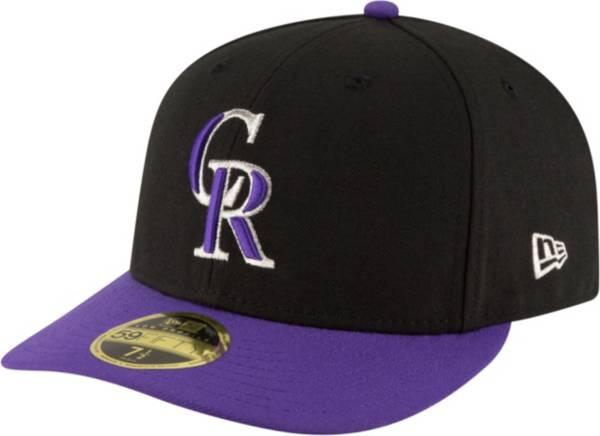 New Era Men's Colorado Rockies 59Fifty Alternate Black Low Crown Authentic Hat product image