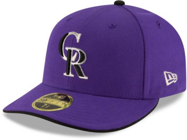 New Era Men's Colorado Rockies 59Fifty Alternate Purple Low Crown Authentic Hat product image