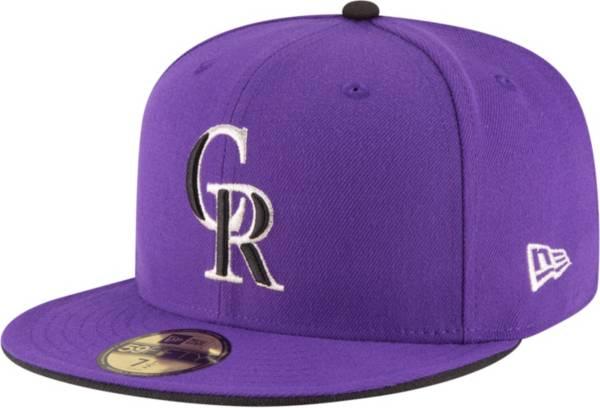 New Era Men's Colorado Rockies 59Fifty Alternate Purple Authentic Hat product image