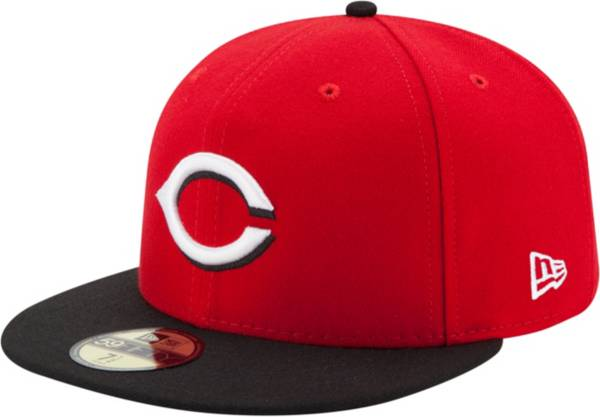 New Era Men's Cincinnati Reds 59Fifty Road Red Authentic Hat product image
