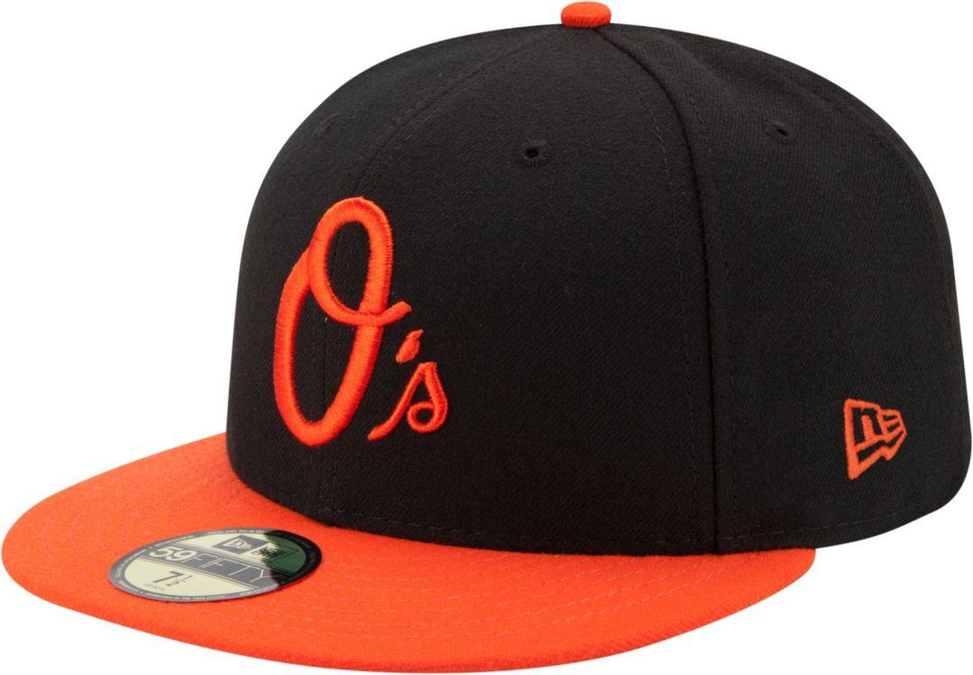 the best attitude 57463 1128f New Era Men s Baltimore Orioles 59Fifty Alternate Black Authentic Hat
