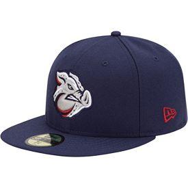 2673d609eef New Era Men s Lehigh Valley IronPigs 59Fifty Navy Authentic Hat ...