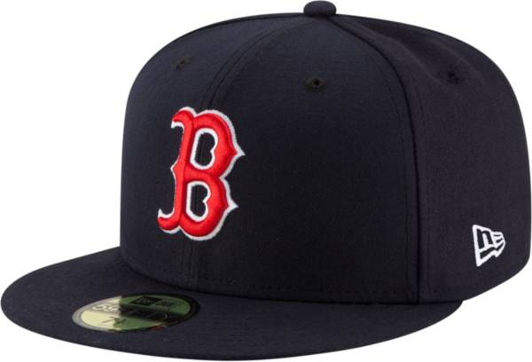 New Era Men's Boston Red Sox 59Fifty Game Navy Authentic Hat product image