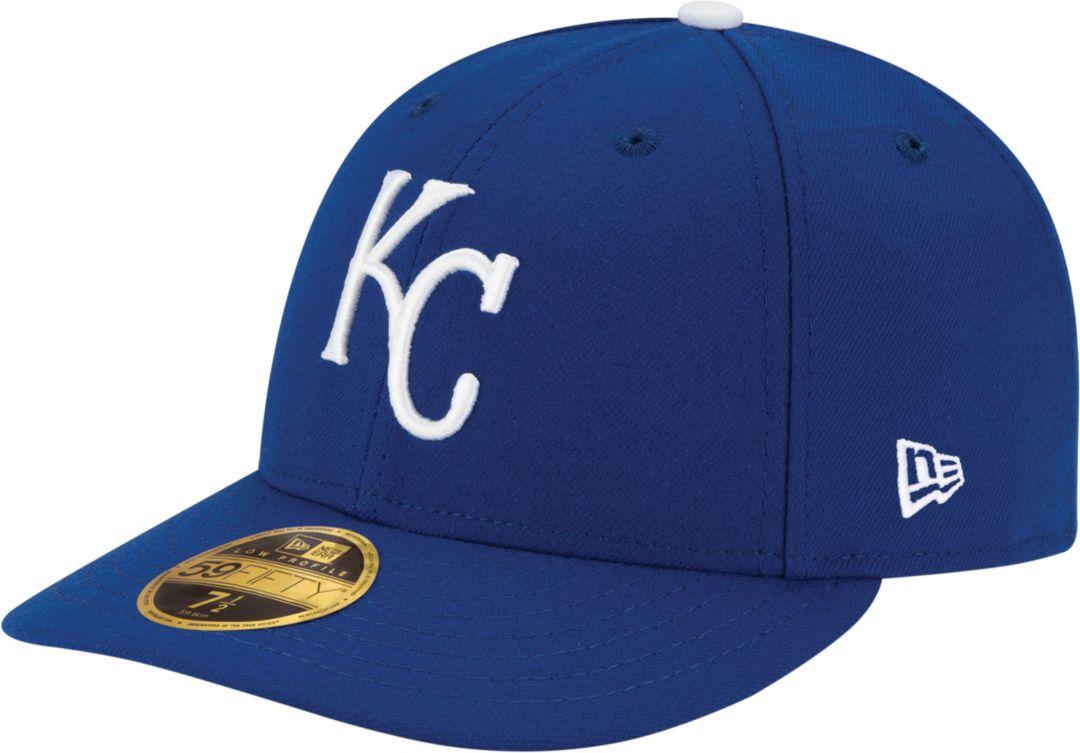 d7c6f6d2 New Era Men's Kansas City Royals 59Fifty Game Royal Low Crown Authentic Hat