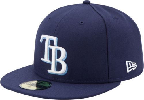 5724f382d23 New Era Men s Tampa Bay Rays 59Fifty Game Navy Authentic Hat ...