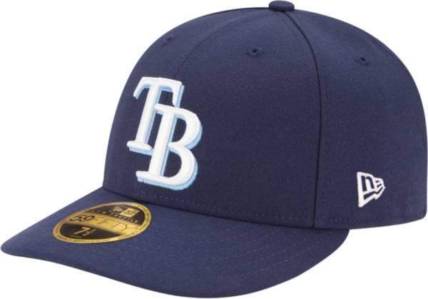 New Era Tampa Bay Rays Snapback Hat Cap All Black//Official Team Logo