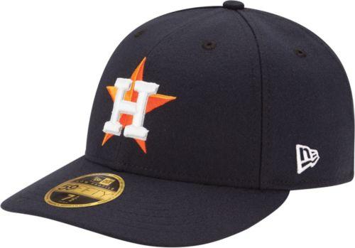 faa70868dbb New Era Men s Houston Astros 59Fifty Home Navy Low Crown Authentic Hat.  noImageFound. Previous