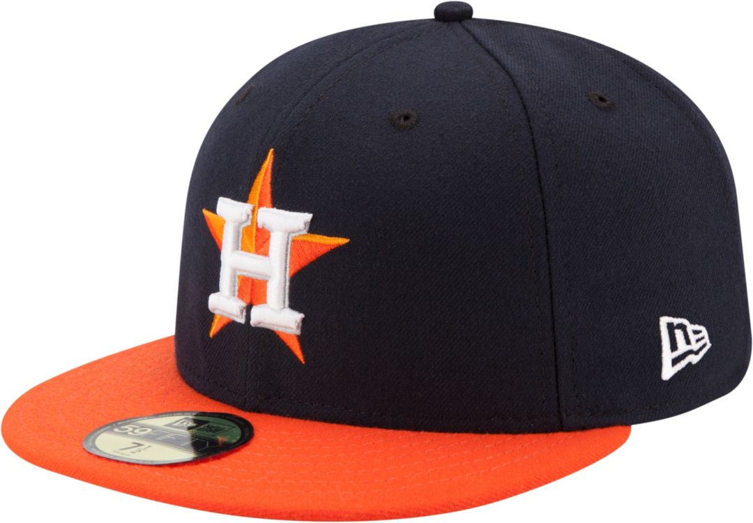 new concept 55841 e97c3 New Era Men s Houston Astros 59Fifty Road Navy Authentic Hat