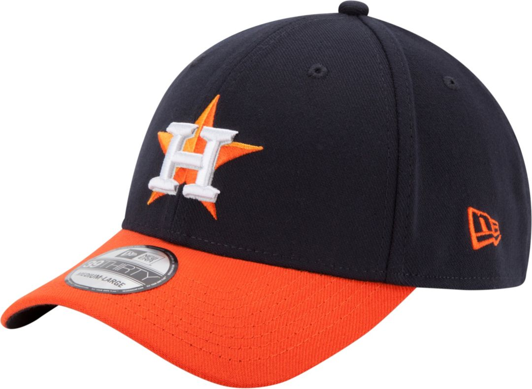 dd0baa44ab1803 New Era Men's Houston Astros 39Thirty Classic Navy Stretch Fit Hat.  noImageFound. Previous