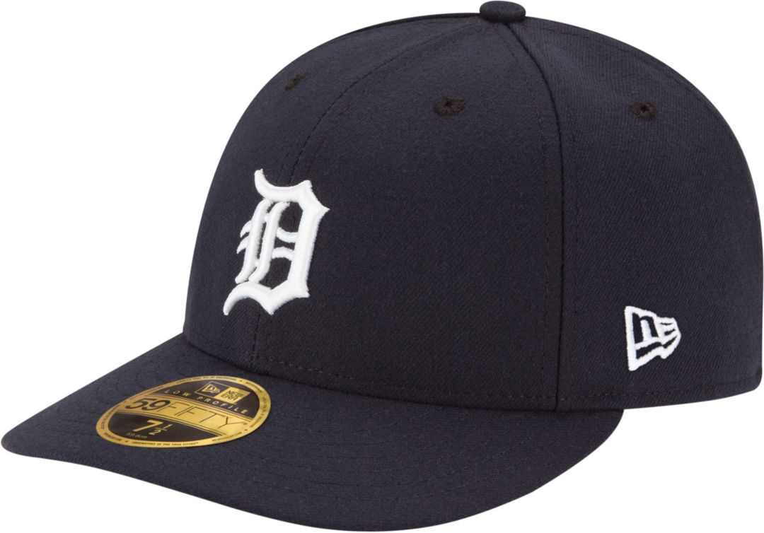 reputable site 6c67a a7a5f New Era Men s Detroit Tigers 59Fifty Home Navy Low Crown Authentic Hat.  noImageFound. Previous