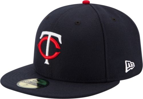 New Era Men s Minnesota Twins 59Fifty Home Navy Authentic Hat ... 922266567274