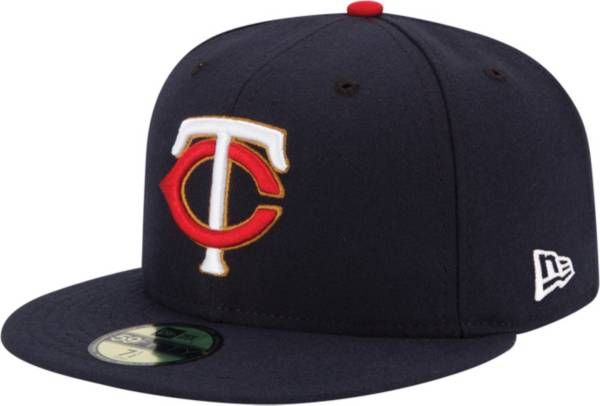 New Era Men's Minnesota Twins 59Fifty Road Navy Authentic Hat product image