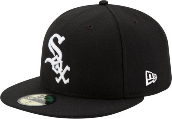 New Era Men's Chicago White Sox 59Fifty Game Black Authentic Hat product image