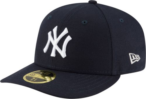 db8813572597e New Era Men s New York Yankees 59Fifty Game Navy Low Crown Authentic Hat.  noImageFound. Previous