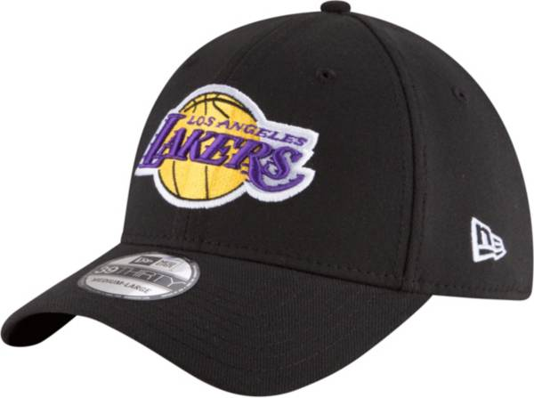 New Era Men's Los Angeles Lakers 39Thirty Black Stretch Fit Hat product image